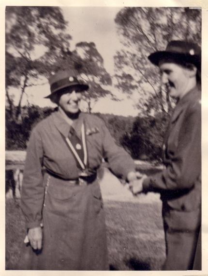 With Lady Baden Powell